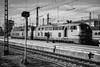 BR 218, München Hbf 2017-10-18 (Michael Erhardsson) Tags: münchen hbf 2017 oktober tågresa tyskland svartvitt