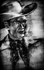 Wednesday Night (Thomas Hawk) Tags: america grantspass oregon southernoregon usa unitedstates unitedstatesofamerica cowboy painting fav10