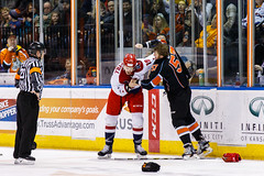 "Kansas City Mavericks vs. Allen Americans, February 24, 2018, Silverstein Eye Centers Arena, Independence, Missouri.  Photo: © John Howe / Howe Creative Photography, all rights reserved 2018 • <a style=""font-size:0.8em;"" href=""http://www.flickr.com/photos/134016632@N02/39790797684/"" target=""_blank"">View on Flickr</a>"