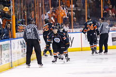 """Kansas City Mavericks vs. Toledo Walleye, January 20, 2018, Silverstein Eye Centers Arena, Independence, Missouri.  Photo: © John Howe / Howe Creative Photography, all rights reserved 2018. • <a style=""""font-size:0.8em;"""" href=""""http://www.flickr.com/photos/134016632@N02/39839489631/"""" target=""""_blank"""">View on Flickr</a>"""