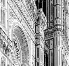 duomo di firenze (paologmb) Tags: flat sunset decor abstract leicaapotelytm135mm gold 135mm icon shadows blue duomo blancnoir firenze archilovers brunelleschi architecture simmetry sky blackandwhite leicamtyp240 structure