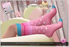 Falling Hearts Socks Pack 1 (Oriana Kuhr) Tags: dillydolls blush event cute kawaii beauty fashion accessory maitreya slink lara physique hourglass original mesh sl secondlife
