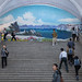 Mount Paektu fresco in Yonggwang glory station, Pyongan Province, Pyongyang, North Korea