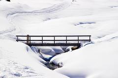 Little Creek Bridge (Beppe Rijs) Tags: austria österreich alps alpen berg mountain snow schnee eis ice glacier gletscher ski frost winter pitztal bw blackandwhite black white monochrome sepia