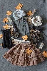 ♪ Casual Autumn Dark-morigirl Set for DollChateau MSD BJDs ♪ (Nyussz-Design) Tags: bjd ball balljointeddoll bjdoll bjddoll abjd nyussz nyusszdesign nyusszdesignetsy mori msd msddoll morigirl morikei dark darkmori darkmorigirl darkmorikei vintage dollchateau kid bella