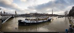 4/52 : La Seine, la Seine... (Ludtz) Tags: 52weeksthe2018edition 52weeks 52semaines ludtz canon canoneos5dmkiii 5dmkiii a ef35|2is paris seine river fleuve crue cruedelaseine flood pontalexandreiii bridge water eau péniche ciel sky nuages clouds cloudsstormssunsetssunrises 75