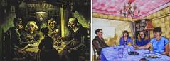 The Potato Eaters by Van Gogh 1885 and New Potato Eaters by Anthony D. Padgett 2017 (anthonydavidpadgett) Tags: vincentvangogh vangogh vincent lovingvincent arles amsterdam auverssuroise saintremy chair sunflowers bedroom blossom absinthe millet pipe wheatfields crow lemoulindelagalette nightcafe placelamartine saintesmaries starrynight langloisbridge cafeterace placeduforum lesalyscamps peretanguy stilllife yellowstrawhat vincentshouse bedroomwindow saintpaul asylum corridoor saintpaulhospital saintpauldemausole olivepicking larlesienne madameginoux yellowhouse potatoeaters cypress postman josephroulin nuenen strawhat antwerp borinage hague fishingboats blueenamel coffeepot earthenware fruit almond anthonydavidpadgett anthonypadgett southport southribble sollom tarleton lytham preston hutton longton rufford