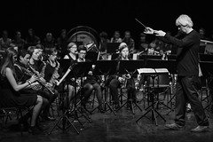 Sax happening - A in B&W (Drummerdelight) Tags: livemusic performance stagelighting music sax blackwhite concertphotography conductor