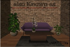 also Known as - Alonzo Livingroom Ultra Violet (~ also Known as ~ (Second Life)) Tags: sl sofa alsoknownas secondlife akahatasl animated cosmopolitan cosmopolitanevent contemporary retro livingroom 3d