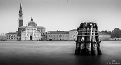 San Giorgio Maggiore Black and White One Bricola (ulibelli) Tags: venice venezia venecia veneza venise venedig венеция مدينةالبندقية 威尼斯 वेनिस ベニス