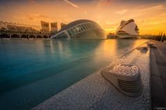 Ciudad de las Artes y de las Ciencias (IV) (Andrés Domínguez Rituerto) Tags: valencia ciudaddelasartesylasciencias atardecer sunset sky light