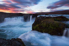 Colorful moment on Godafoss (Rouz 29) Tags: iceland islande niceland gadofoss waterfall chutedeau cascade myvatn color couleur colorful coloré eau water sunrise leverdesoleil landscape paysage beauty beauté nature naturel natural wow impressive impressionnant erwanleroux sky ciel cloud cloudy nuage nuageux nikon nikkor sirui sundaylights