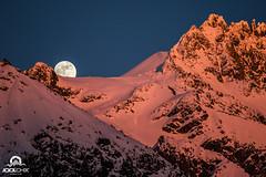 Lever de lune sur le glacier des Grands-Montets (Jool CHX) Tags: chamonix montagne lune glacier lesgrandsmontets coucherdesoleil neige petiteaiguilleverte canonef70200mmf4l 7dmarkii pasdechèvre