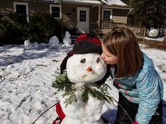 First kiss (M.J.H. photography) Tags: firstkiss kiss child girl snowman allison winter vacationcamp