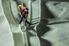 Zip Repairs (SKAC32) Tags: macro canonef100mmf28macrousm preiser zip fastener white