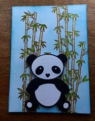 P is for... (CraftyBev) Tags: panda stamping inking alphabetatcswap