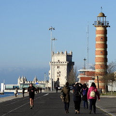 #4554 Belém Tower, Belém Marina, lighthouse (Nemo's great uncle) Tags: padrãodosdescobrimentos monumentofthediscoveries monument tagusriversanta maria de belémlisbonportuguese age discoveryage exploration