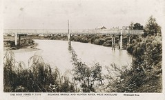 Belmore Bridge and Hunter River, Maitland, N.S.W. (maitland.city library) Tags: maitland new south wales enid farnham folder 3 west belmore bridge hunter river postcard mcdonaldbros rose series p 7246 chants