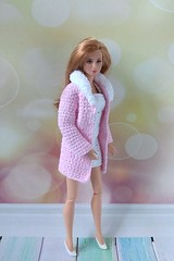 Barbie clothes handmade. Hand-crocheted pink coat and white dress for 12 inch Barbie dolls. Fits regular basics body size (uliakiev) Tags: barbie barbiedoll barbiedollclothes barbieclothes barbiesweater barbiecollector barbiecollection barbiefan barbiefashion barbieclothing barbiedolls barbiestyle barbiestream barbiecrochet barbieknit dollclothes dollsweater dollknitting