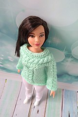 Curvy Barbie doll clothes - hand-knitted green sweater for Barbie girl - white pants (uliakiev) Tags: barbie barbiedoll barbiedollclothes barbieclothes barbiesweater barbiecollector barbiecollection barbiefan barbiefashion barbieclothing barbiedolls barbiestyle barbiestream barbiecrochet barbieknit dollclothes dollsweater dollknitting curvybarbie