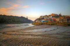 bristol sunset (mariusz kluzniak) Tags: mariusz kluzniak europe uk englands river riverbank low tide sunset chainbridge cliffton architecture oldtown