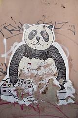 Panda-pest (Eniram Cerf) Tags: hungary hongrie graffiti populaire culture rue street budapest panda streetart