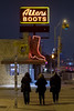 Allens boots and three graces (Jacques Lebleu) Tags: night neon sign boots congress trio south allens austin