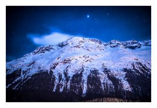 Night Falls over Mountain Ridge.