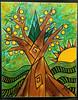 "VENDIDO ""Limonero"" ""Lemon Tree"" Acrílico lienzo 50x40 By Diaz 2018 Monoxide (diazmariaj) Tags: pintura arte art painting paint drawing artwork artist artista dibujo contemporaryart draw instaart design pintor colors diaz monoxide"