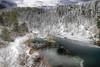 Un solo giorno prima ... (Gio_ guarda_le_stelle) Tags: lake snow ice lakescape mountainscape mountain clouds italy atmosphere water cool freddo frio trees bosco sila quiet lago neve