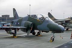 XX332 Hawk T.1 (Irish251) Tags: xx332 hs1182 hawker siddeley bae hawk raf egun mildenhall 1983