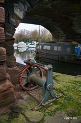 Winch (Photos taken with Sony mirrorless cameras) Tags: bridgewater canal runcorn boat bridge water