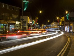 Rayleigh, Essex, by night (jimj0will) Tags: rayleigh essex england night trails traffic