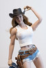 Howdy, Pardner! (edwicks_toybox) Tags: 16scale acplay tbleague brunette colt cowboyboots cowboyhat cowgirl daisydukes denimjacket femaleactionfigure flirtygirl juicetoys magiccube peacemaker phicen rifle seamlessbody shorts superduck winchester