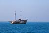 A boat among the sea (Sirena Lu) Tags: seascape travel europe slowenien slovenia reisen sailing sails ocean seaside sea adriatic adria blue sky boat fromafar