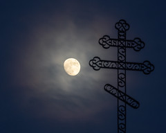 Guiding Light (WherezJeff) Tags: alberta canada christianity fedorah moon waxinggibbous church cross luna orthodox science legal ca sturgeoncounty
