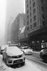 W 55th St (marktmcn) Tags: new york west w 55th st street snow covered snowstorm traffic car cars winter wintry blackandwhite monochrome dsc rx100