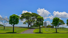 Manila American Cemetery and Memorial (phuong.sg@gmail.com) Tags: american architectural architecture army asian beautiful blue building business cemetery city clouds cloudscape color colorful downtown garden grass graves gravestones green landscape manila metro military nature outdoors pacific park perspective philippines point scenery scenic sky spring summer taguig tourism travel urban view worldwar ww2