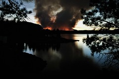 Wildfire at Sunset (The VIKINGS are Coming!) Tags: fire forest wildfire spruce pine fir lakedavis