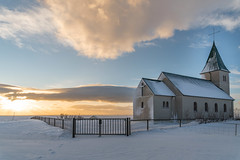 Church in Iceland (George Pachantouris) Tags: iceland north arctic cold winter snow white ice frozen freeze church nordics