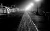 Boardwalk at night (bekajma19) Tags: foggy boardwalk night oceancity lights shadows wood bw nikond70 new jersey beach amusments