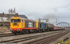20132 7X08 (47843 Vulcan) Tags: class20 20132 20107 20311 20314 hnrc gbrf englishelectric typeone sstock derby barrowhilldepot railfreight brblue 7x08chaddesdentobanbury