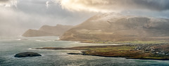 Winter showers rolling in over Keel (mickreynolds) Tags: achill comayo february2018 ireland wildatlanticway keel nx500 45mm prime panoramic pano weather mountain stitched microsoft ice