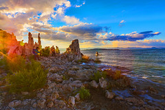 Mono Lake Photographers (Rennett Stowe) Tags: photographers photographer monolake sunset sunrise wonder conventional resplendant magical magictime magiclight photography savor wife woman light california usa unitedstates lake lakesunset beautifulcolor colortime france