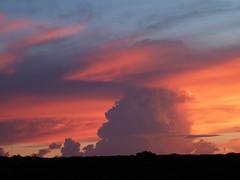 Sunset from Vic Falls Safari Lodge, Zimbabwe