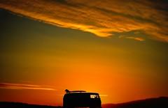 Dawn surfer (deeks19@hotmail.co.uk) Tags: surfboard sky waves daybreak sun campervan vw surfing mist dawn sunrise landscape snapitnc nikon