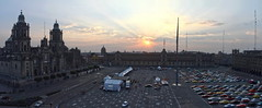 The Zocalo of Mexico City (Chemose) Tags: mexico mexique mexicocity panoramic panoramique zocalo placedelaconstitution place square plaza hdr canon eos 7d mars march sunrise leverdesoleil