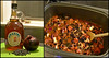 Photo#11: BBQ. Vegan Baked Beans! (✈Busy-Off To Canada Today!✈) Tags: 365the2018edition diptych food maplesyrup redonion blackbeans slowcooker cooking spoon delish 3652018 day11365 11jan18 veganbbqbakedbeans