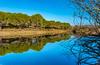 Barragem Reflection (www.craigrogers.photography) Tags: barragem lake reservoir reflection sky bluesky algarve portugal sun water agua sãomarcosdaserra serra hills trees