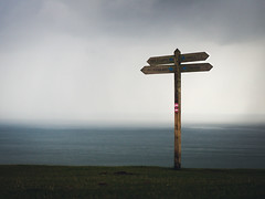 On the path to Old Harry (hendersonrees.photography) Tags: dorset uk poole studland swanage old harry rocks coast sea clouds rain sony a6000 moody